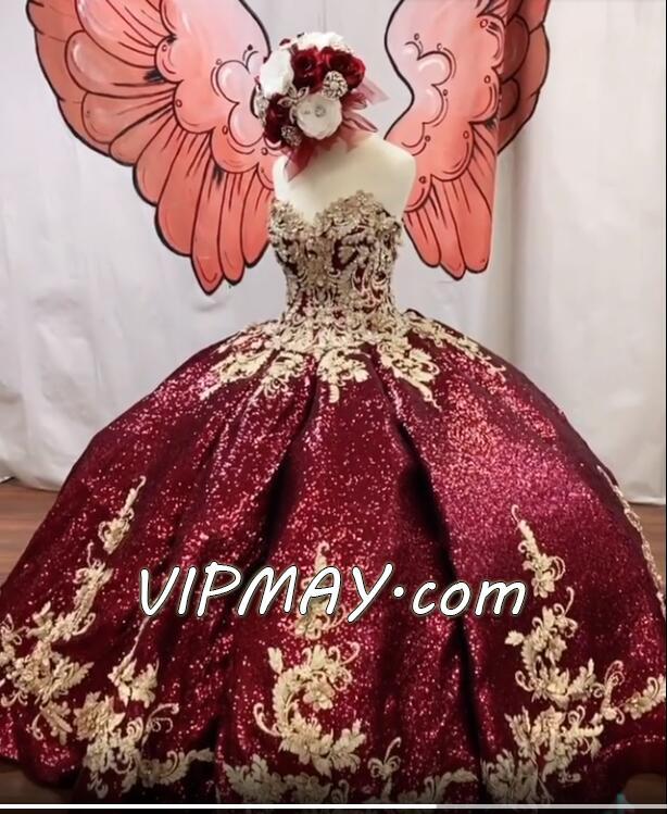 glitter houston quinceanera dress,sequined quinceanera dress,quinceanera dress that are really puffy,unique quinceanera dress puffy,burgundy and gold quinceanera dress,quinceanera dress with applique,3d floral applique quinceanera dress,