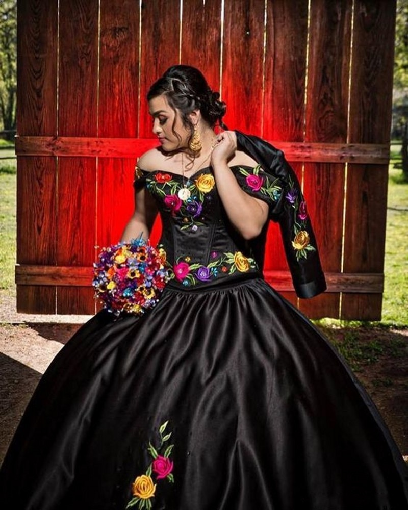 quinceanera dress customizer,black charro quinceanera dress,off the shoulder quinceanera dress,floral embroidery quinceanera dress,charro quinceanera dress nina chita,charro collection quinceanera dress,bolero jacket quinceanera dress,satin quinceanera dress,quinceanera dress online creator,