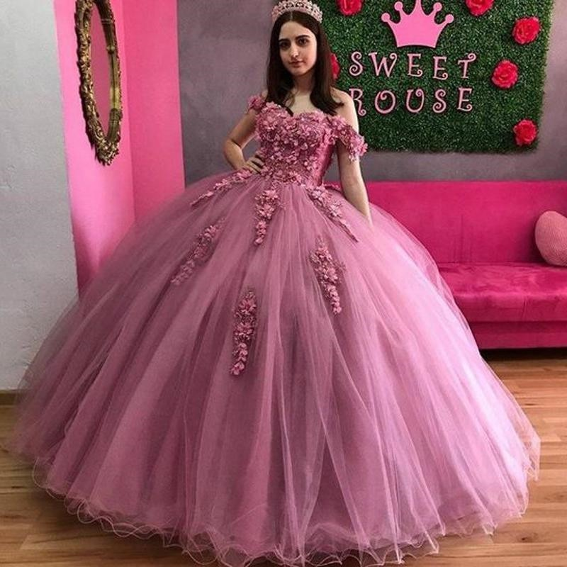 tulle and stain quinceanera dress,rose pink quinceanera dress,cheap quinceanera gown under 200 dollars,wholesale quinceanera dress california,quinceanera dress discount prices,off the shoulder quinceanera dress,quinceanera dress with 3d flowers,tulle skirt quinceanera dress,pink ball gown quinceanera dress,