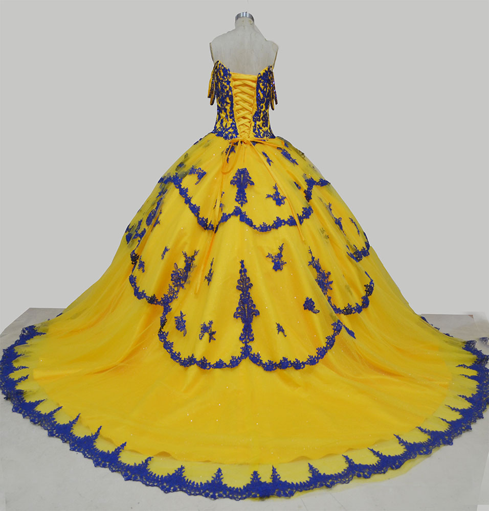 yellow quinceanera dress,off shoulder quinceanera dress,long train quinceanera dress,ball gowns with trains quinceanera dress,2021 quinceanera dress,unique vintage quinceanera dress,